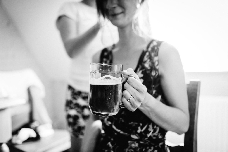 pivo na raňajky