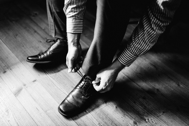 obúvanie topánok