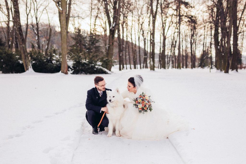 portréty svadobného páru